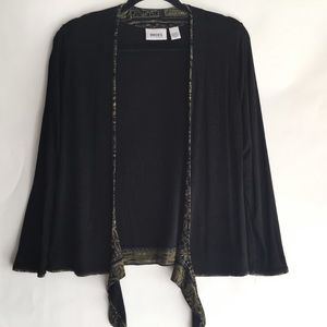 Chico's Travelers Cardigan Size 0/Small Black